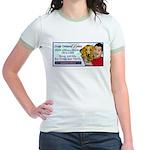 Man Hugs Dog -Color-Women's Ringer T-Shirt