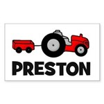 Tractor - Preston Rectangle Sticker