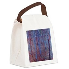 Beech Forest by Gustav Klimt, Vin Canvas Lunch Bag