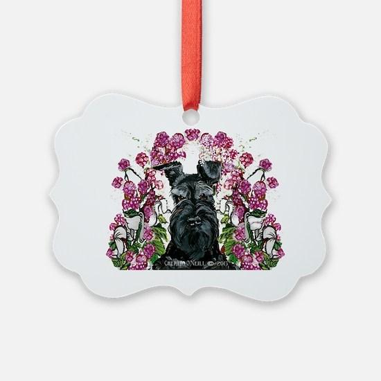 Black Schnauzer Ornament