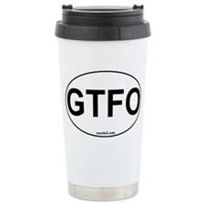 GTFO Oval Sticker 3x5 Travel Mug