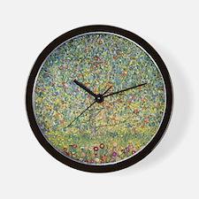 Apple Tree by Gustav Klimt, Vintage Art Wall Clock