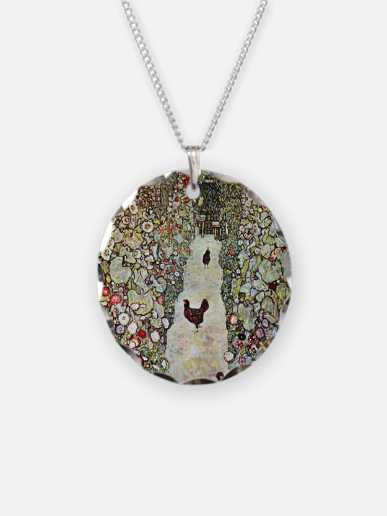 Gustav Klimt Garden Path wit Necklace