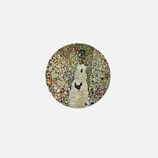 Gustav Klimt Garden Path with Chickens Mini Button
