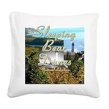 sleepingbearsq Square Canvas Pillow