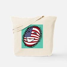 American flag smiley Tote Bag