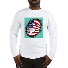 American flag smiley Long Sleeve T-Shirt