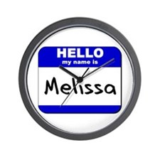 hello my name is melissa  Wall Clock