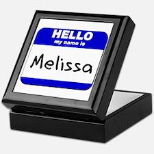 hello my name is melissa Keepsake Box
