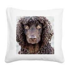 Irish Water Spaniel Square Canvas Pillow