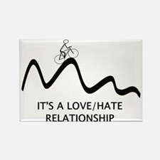 Cyling : Love Hate Relationship Rectangle Magnet