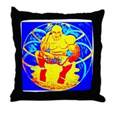 Budha In A Buble Throw Pillow