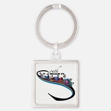 south beach Square Keychain