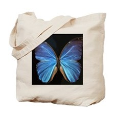 Elegant Blue Butterfly Tote Bag