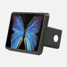 Elegant Blue Butterfly Hitch Cover