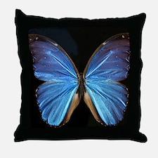 Elegant Blue Butterfly Throw Pillow