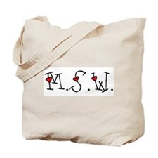 MSW Hearts Tote Bag