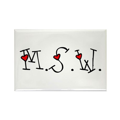 MSW Hearts Rectangle Magnets (10 pack)