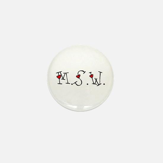 MSW Hearts Mini Button