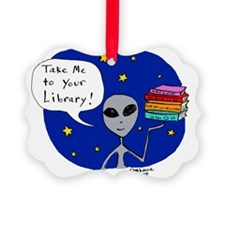 Take Me To Your Library Ornament