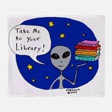 Take Me To Your Library Throw Blanket