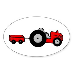 Tractor Design Oval Decal