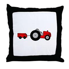 Tractor Design Throw Pillow