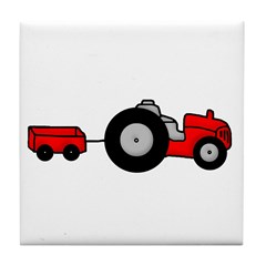 Tractor Design Tile Coaster