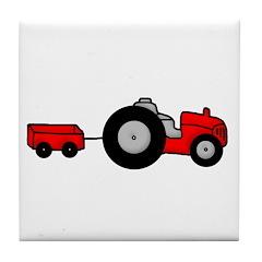 Tractor Design Tile Coaster