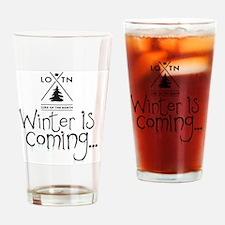 new_winteriscoming Drinking Glass