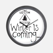 new_winteriscoming Wall Clock