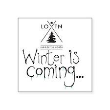 """new_winteriscoming Square Sticker 3"""" x 3"""""""