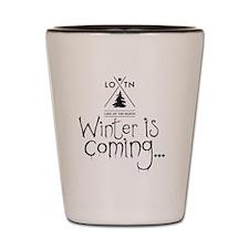 new_winteriscoming Shot Glass
