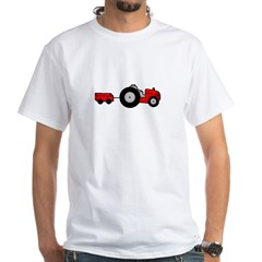 Tractor Design White T-Shirt