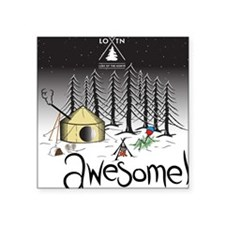 """new_awesome Square Sticker 3"""" x 3"""""""