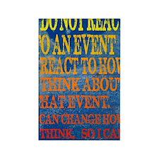 I can change how I reaction Poste Rectangle Magnet