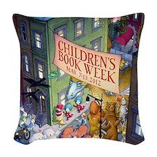 2012 Childrens Book Week Woven Throw Pillow