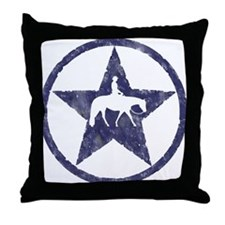Western pleasure star Throw Pillow