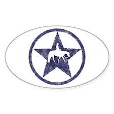 Western pleasure star Oval Decal