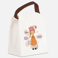 Blond Princess Big Sister Canvas Lunch Bag
