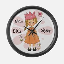 Blond Princess Big Sister Large Wall Clock