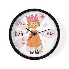 Blond Princess Big Sister Wall Clock