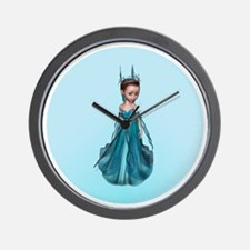 Blue Fairy Wall Clock