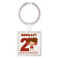 Cheerleader 2 Square Keychain