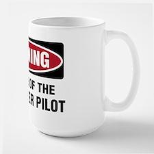 Warning Heli Pilot Large Mug