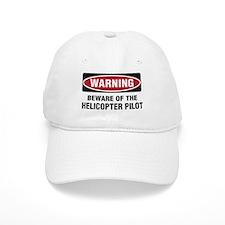 Warning Heli Pilot Baseball Cap