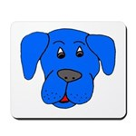 Puppy Dog Design (Dogs Blue) Mousepad