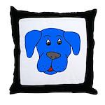 Puppy Dog Design (Dogs Blue) Throw Pillow