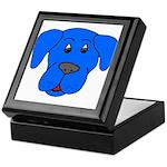 Puppy Dog Design (Dogs Blue) Keepsake Box