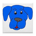 Puppy Dog Design (Dogs Blue) Tile Coaster